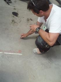 poncage dalle beton